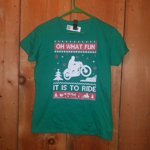 Oh What Fun It Is To Ride Christmas Tshirt